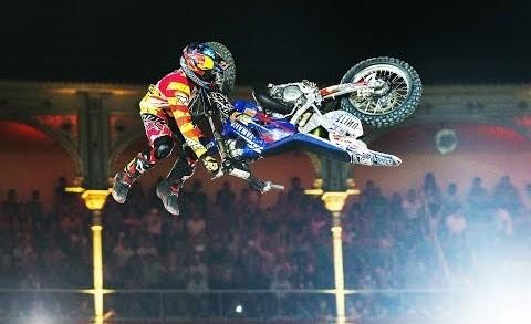 Historic dirt bike flip Red Bull X Fighter 2014