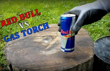 RED BULL VS GAS TORCH – Experiment