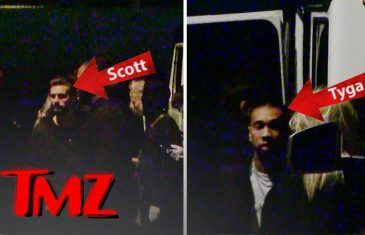Scott Disick and Tyga Party Together on the Sunset Strip | TMZ
